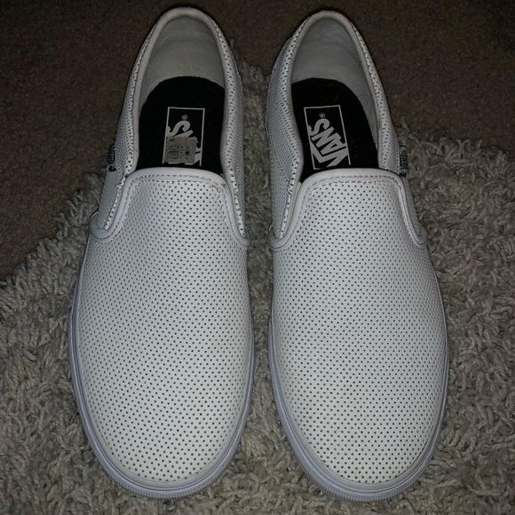 4da44c7222939b perforated white leather van slip ons. M 5bc3eb86de6f624ce48233e2